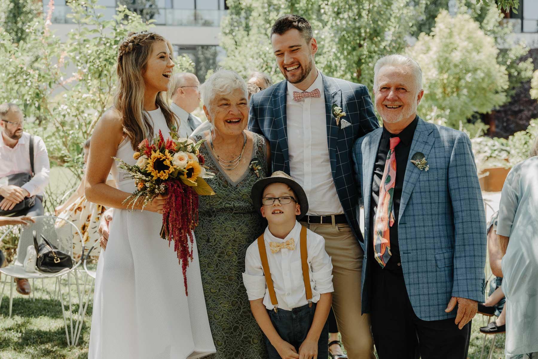 Family Portrait Wedding