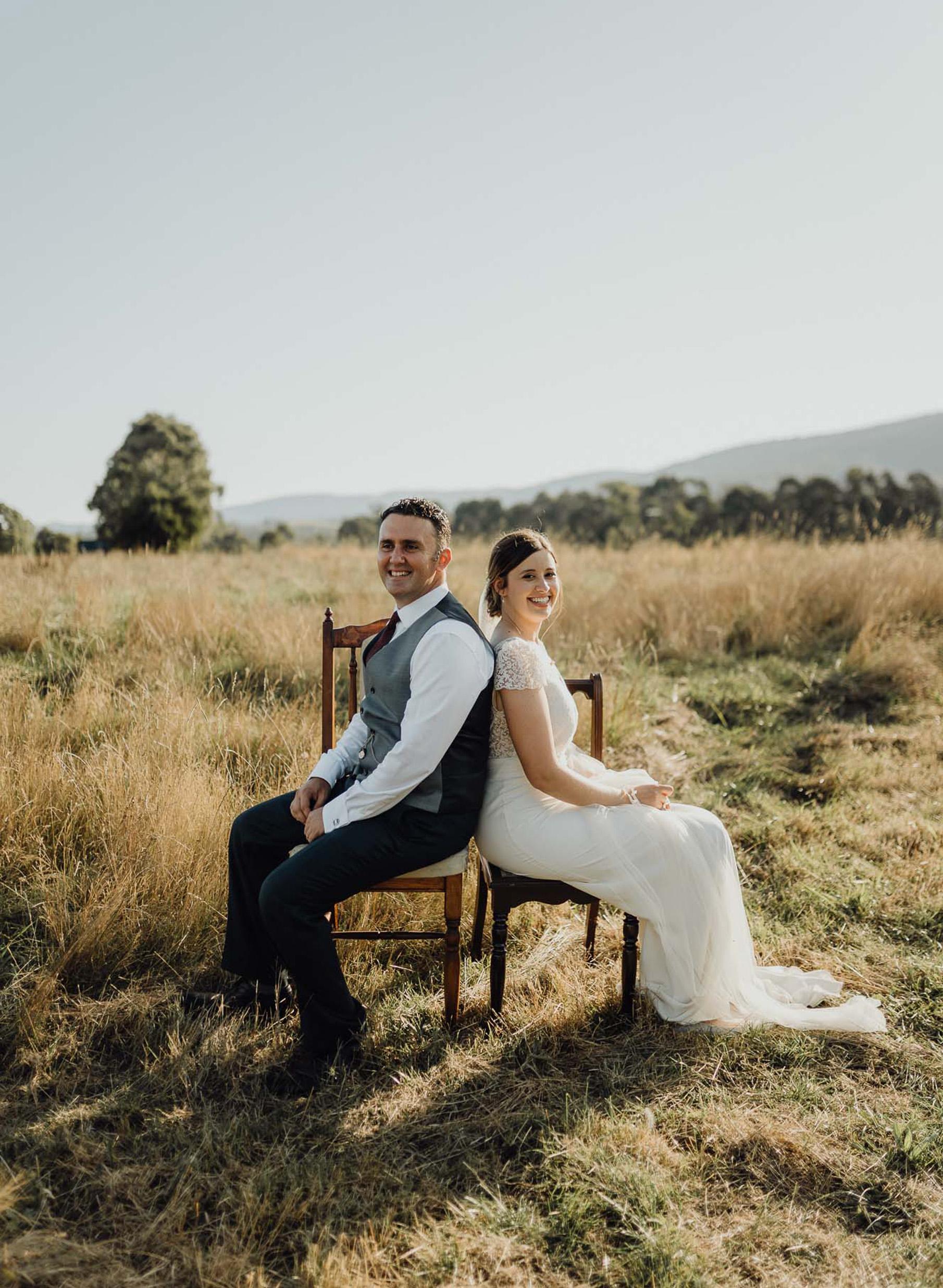 Wedding Photographer Hobart Across the Forest